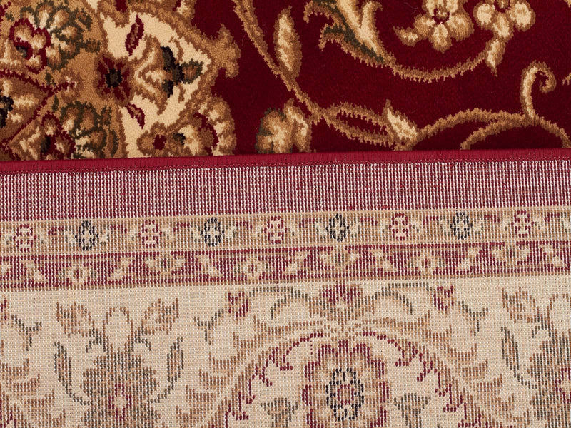 Sydney-Medallion Rug Red with Ivory Border-RUG HOME