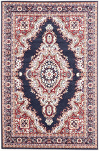 Traditional-Traditional Medallion Rug Blue-RUG HOME