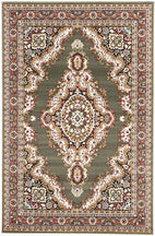 Traditional-Traditional Medallion Rug Green-RUG HOME