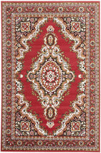 Traditional-Traditional Medallion Rug Red-RUG HOME