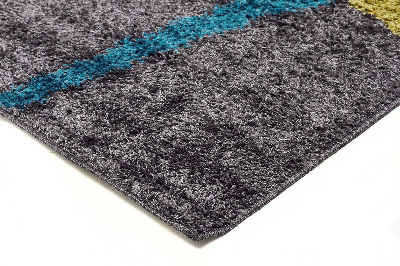 Viva-Brooklyn Shag Rug Charcoal-RUG HOME
