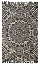 Zulu-Totemic Kin Black Rug-RUG HOME