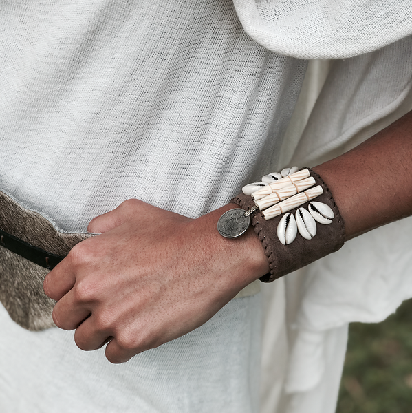 Birdena Leather Bracelet Cuff - Milou Palm Beach