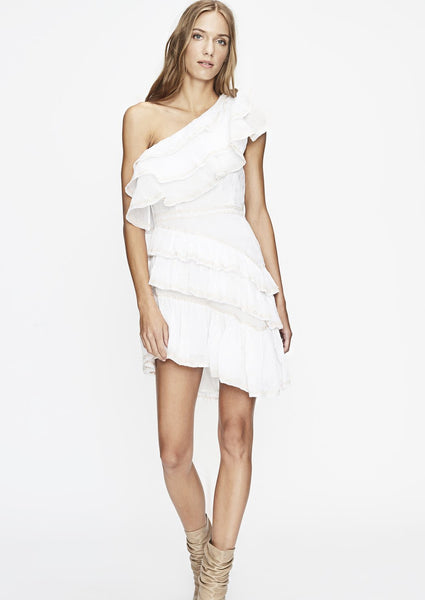 Love Sam One Shoulder Dress- Size L - Milou Palm Beach