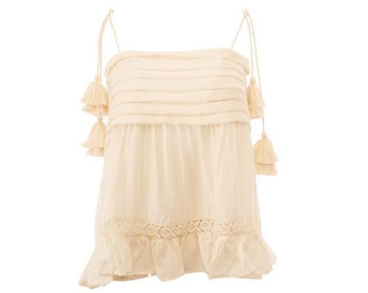 Tassel Tie Blouse - Milou Palm Beach