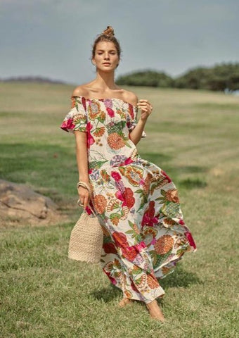 Momposina Off Shoulder Maxi Dress - Milou Palm Beach