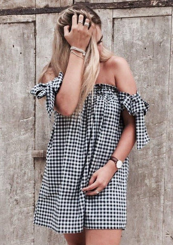Off the Shoulder Dress - Milou Palm Beach