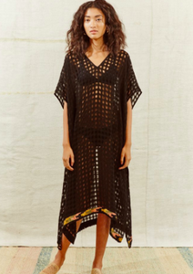 Sosua Black Caftan by A Peace Treaty - Milou Palm Beach