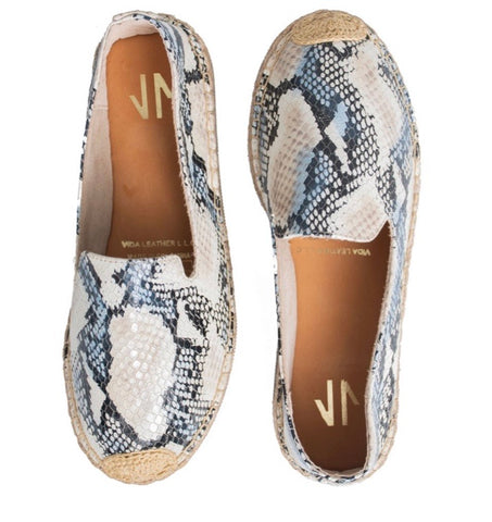 Sofia Leather Moccasins snake - Milou Palm Beach