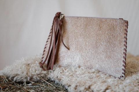 Cowhide Pouch - Milou Palm Beach