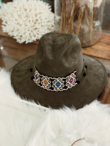 Maria Chilli Dark Brown Suede Hat - Milou Palm Beach