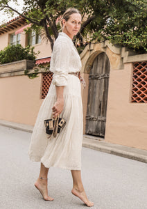 Embroidered Shirt Dress - Milou Palm Beach