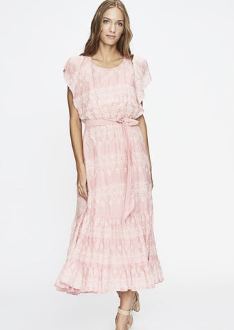 Pink Ruffle Lace Up Dress by Love Sam - Milou Palm Beach