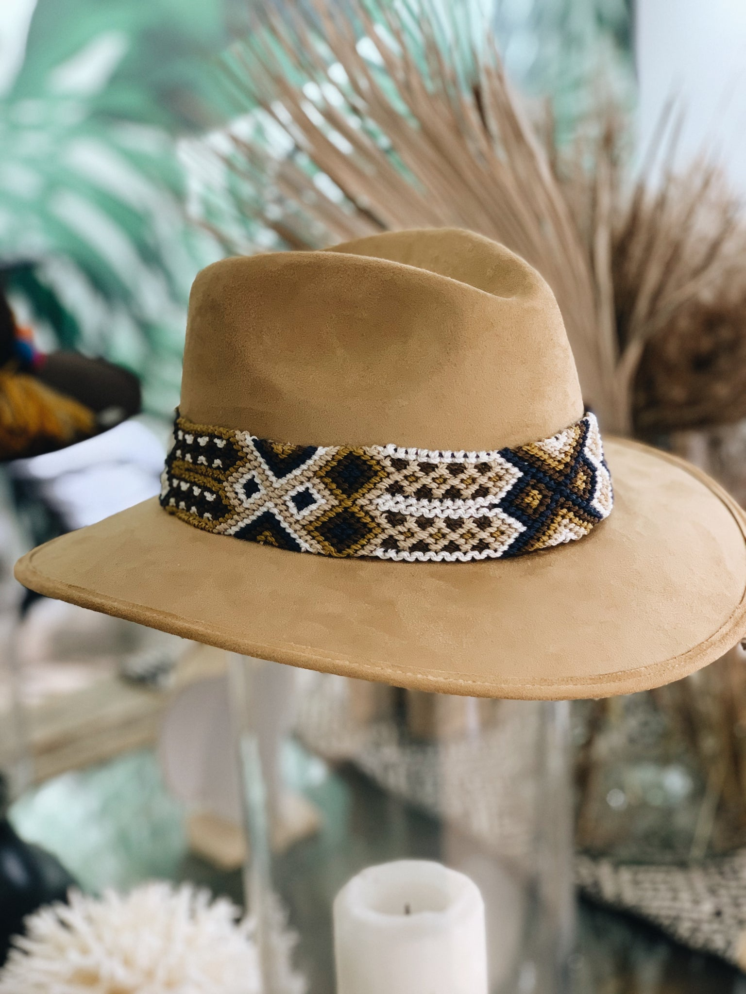 Maria Chilli Tan Suede Hat - Milou Palm Beach