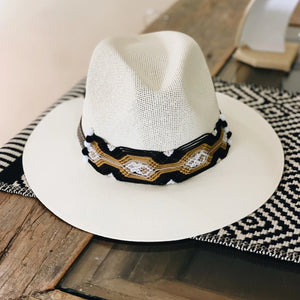 Maria Chilli Hat Black pipping - Milou Palm Beach