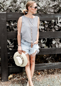 Milou Gingham Vest - Milou Palm Beach
