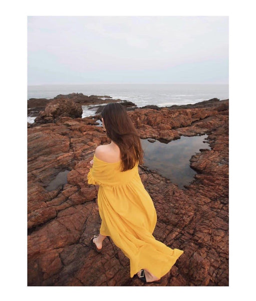 Yellow Maxi Dress - Milou Palm Beach
