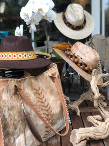 Brown Suede Hat - Milou Palm Beach