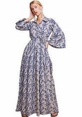 Portia Palm Tree Maxi Dress- Size S - Milou Palm Beach