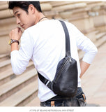 Leather Chest Pack Messenger bag