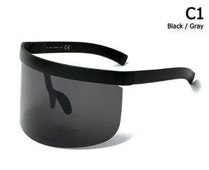 Oversized Shield Style Sunglasses