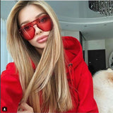 Oversized Red Sunglasses