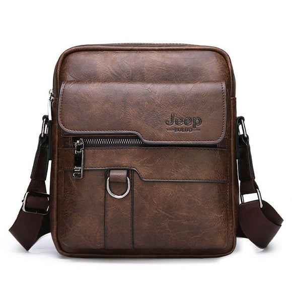Luxury Brand Men's Leather Messenger Bag