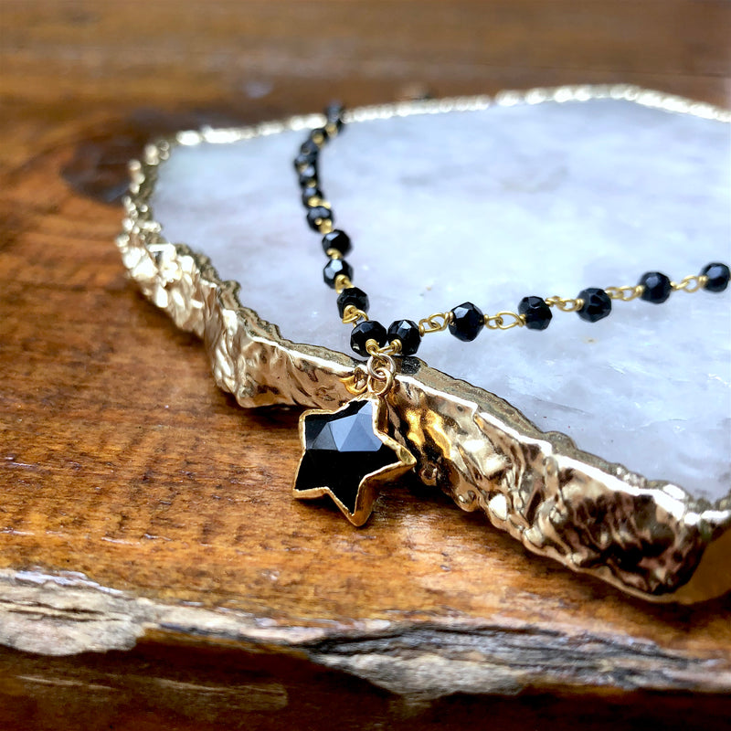 Onyx Star Necklace