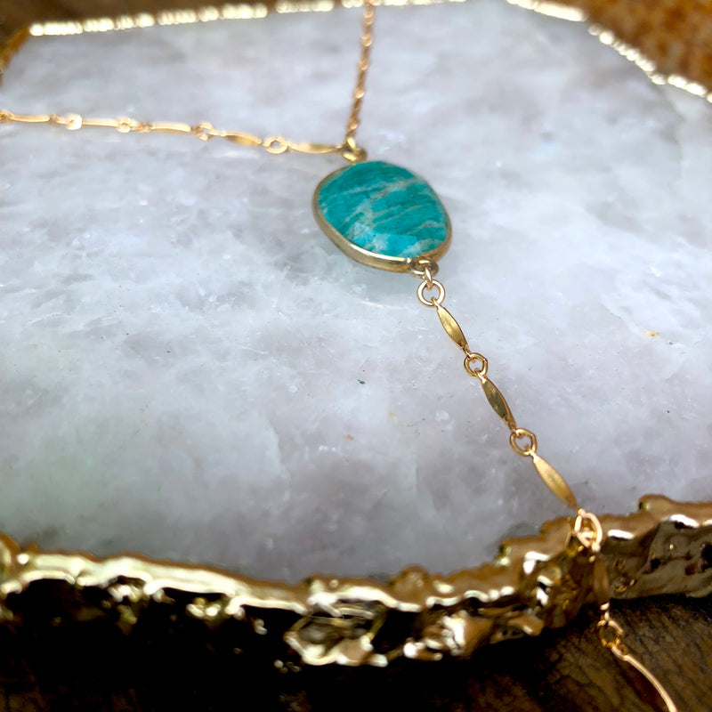 Ocean Eyes Lariat Necklace