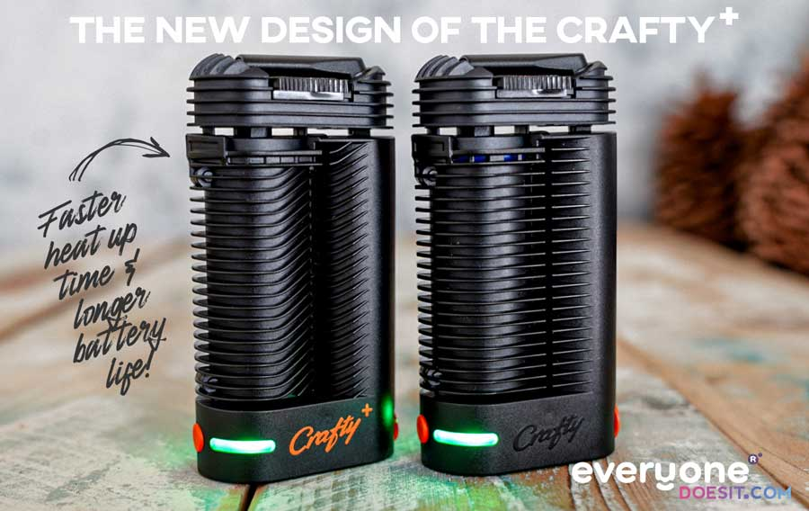 The original Crafty Vaporizer vs the New Crafty Plus Vaporizer