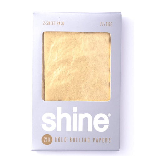 "Shine 24K Gold Rolling Papers - 1 1/4"" Size 2-Sheet Pack"