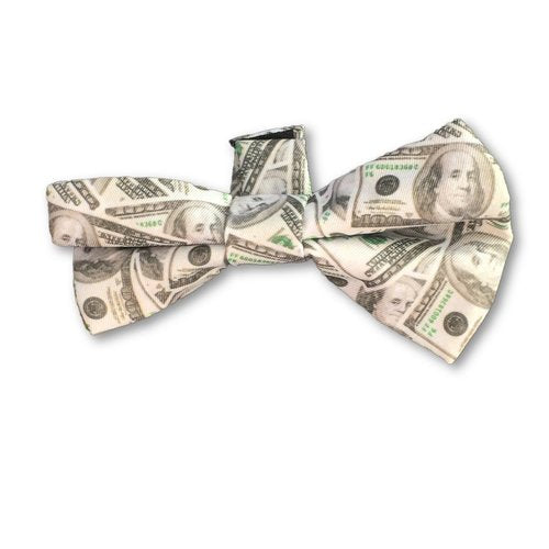 Errly Bird Heady Pet Bow Tie - Money