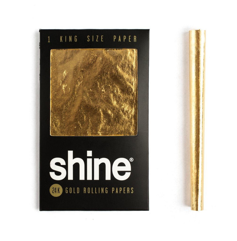 Shine 24K Gold Rolling Paper King Size
