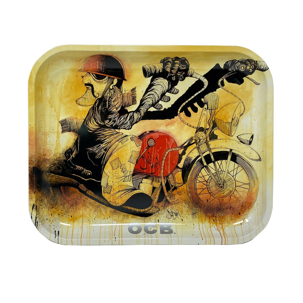 OCB - Metal Tray - Slow-Burn Motorcycle - (Limited Edition)