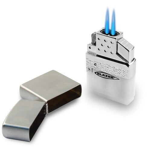 Blazer Top-Z Dual Torch Flame Lighter Insert for Zippo & Similar