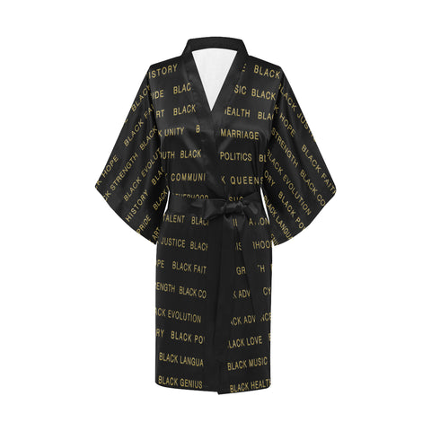 #BLAIRISMS GOLD BLACK MAGIC KIMONO