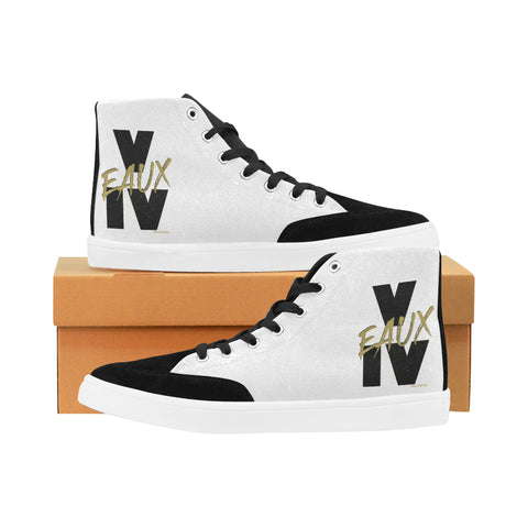 BLACK/GOLD V EAUX IV WOMEN'S HI-TOP SHOES