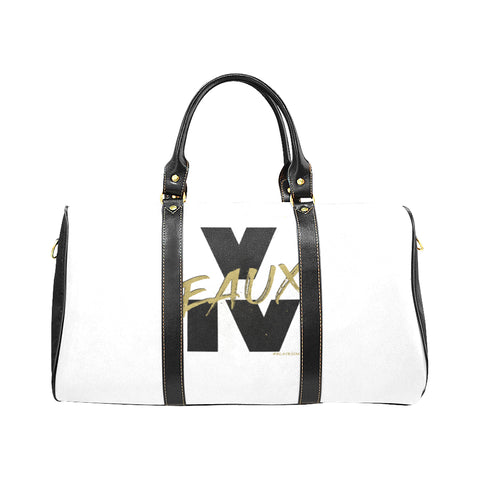 BLACK/GOLD V EAUX IV LARGE TRAVEL BAGS