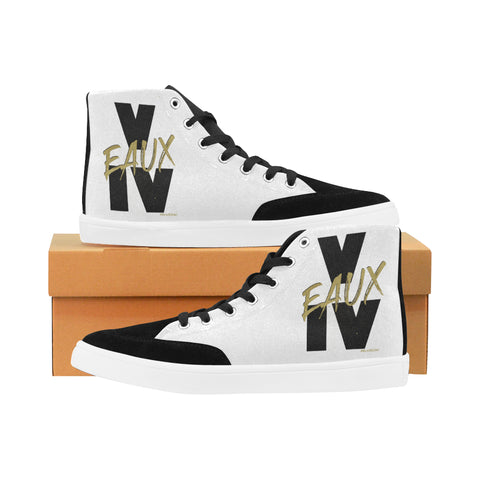 BLACK/GOLD V EAUX IV MEN'S HI-TOP SHOES
