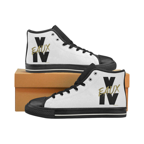 V EAUX IV MEN'S LARGE HI-TOP SHOES (SIZE 13-14)