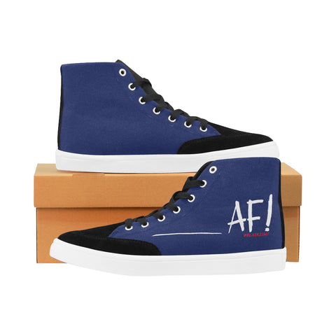 AF WHITE MEN'S HI-TOP SHOES