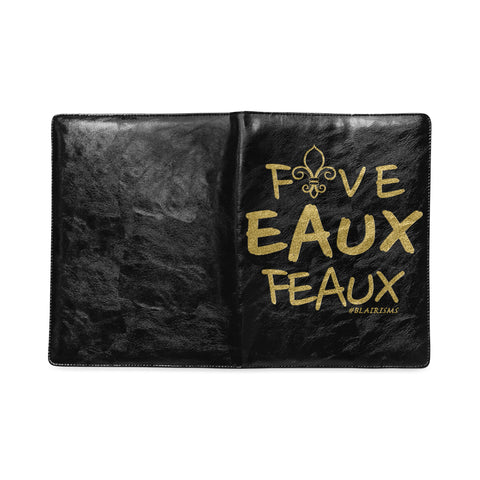 GOLD FIVE EAUX FEAUX JOURNAL NOTEBOOK