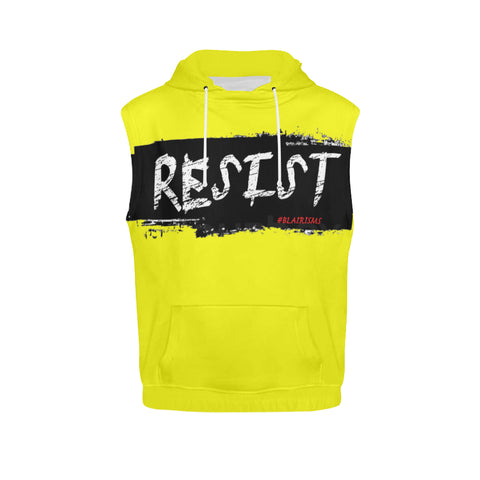 BLACK/WHITE RESIST SLEEVELESS HOODIES