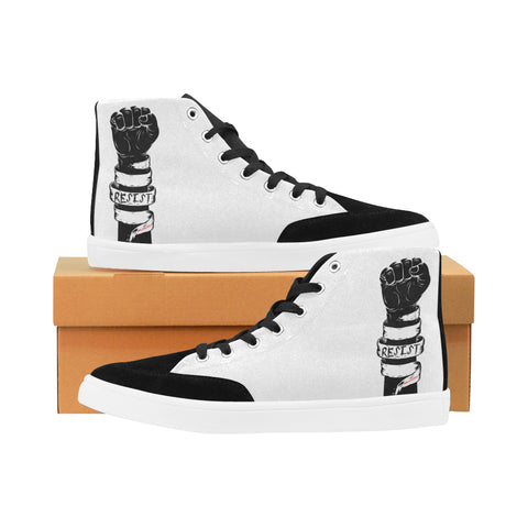RESIST FIST WOMEN'S HI-TOP SHOES