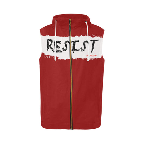 RESIST FIST SLEEVELESS ZIPPER HOODIES (Various Colors)