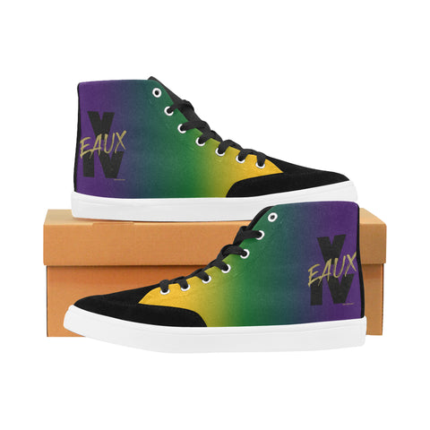 MARDI GRAS WOMEN'S HI TOP SHOES