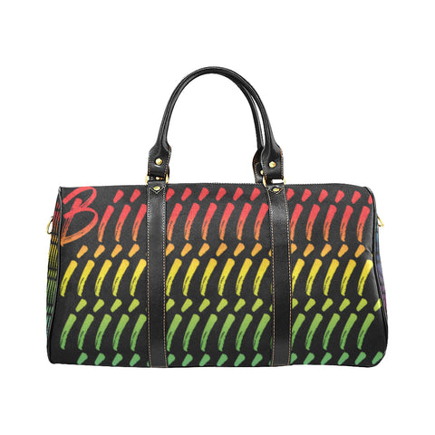 RAINBEAUX/RED/BLACK/GREEN BIIIIIIIIIIIIIIIIITCH SMALL TRAVEL BAGS