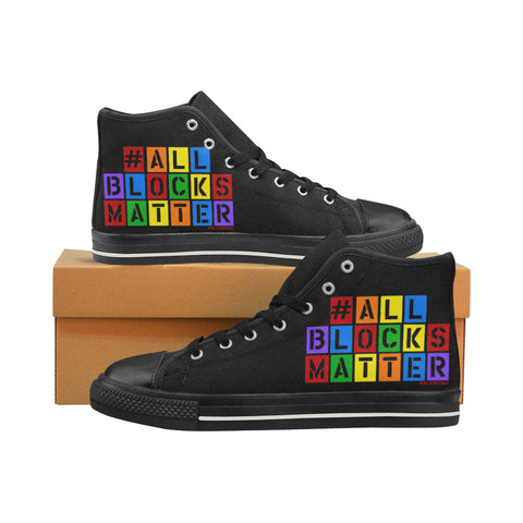 #ALLBLOCKSMATTER KIDS HI TOP