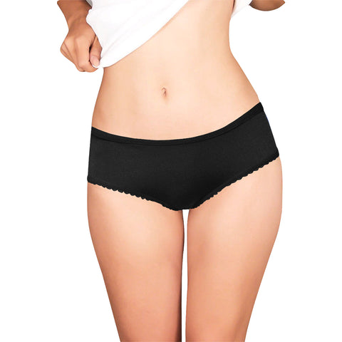 WHITE/BLACK RESIST PANTIES