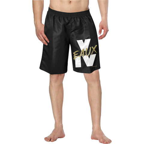 WHITE/GOLD V EAUX IV SHORTS